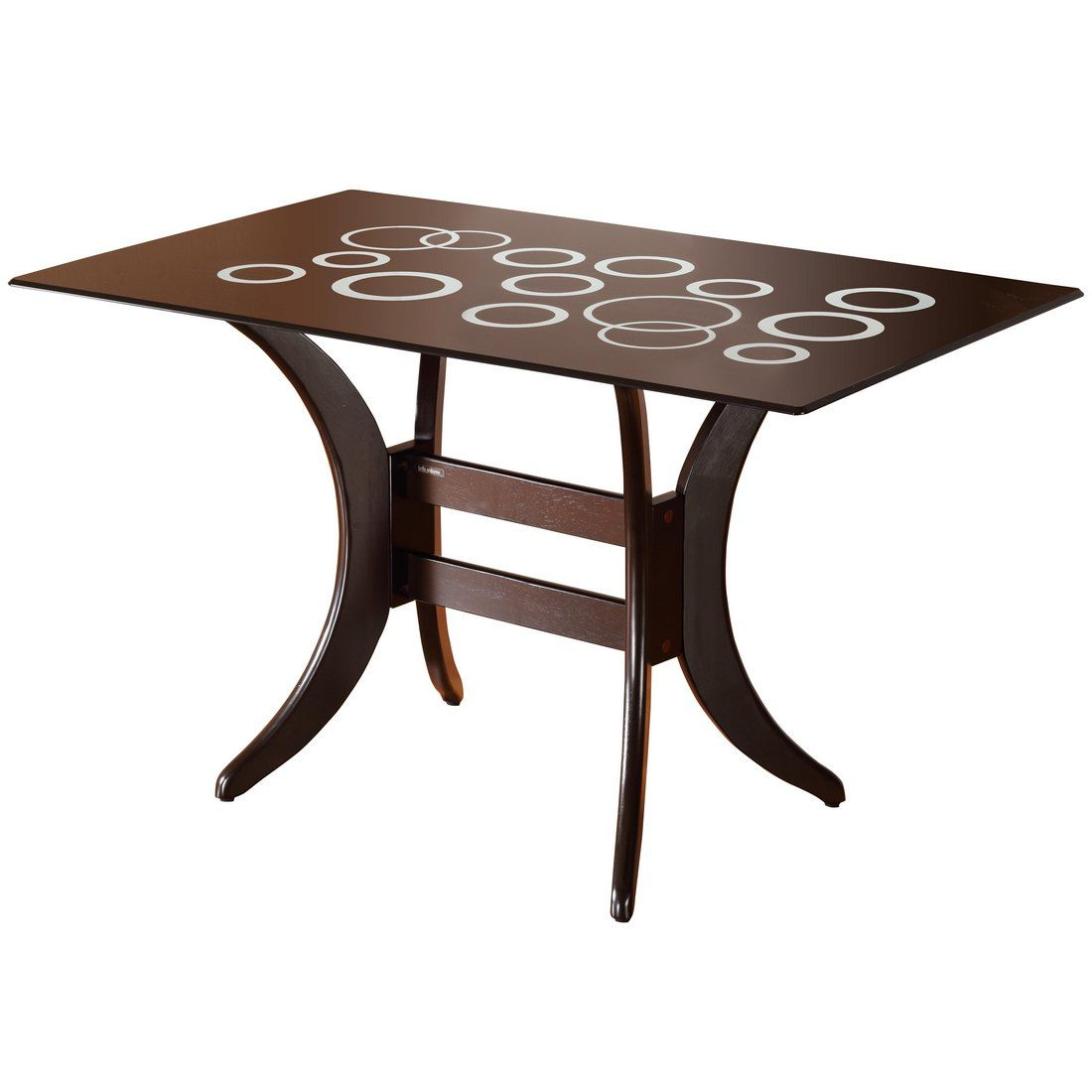 Beata glass dining table 4x2 5 accuto xl chair for 5 chair dining table