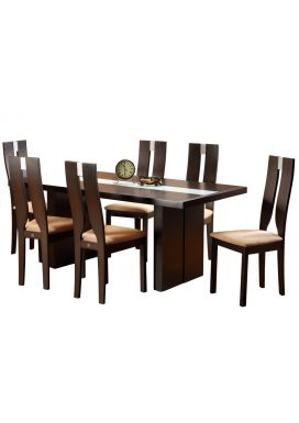 BERRY WOOD DINING TABLE - 6X3 + ALBA CHAIR