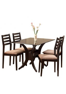 BEATA GLASS DINING TABLE - 4X2.5 + ACCUTO XL CHAIR